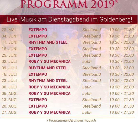 Programm karibische Live-Musik 2018